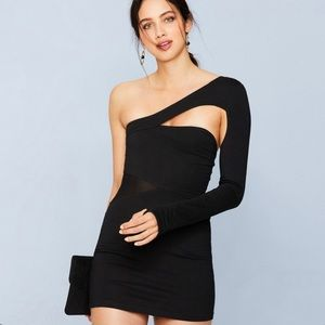 Maac London Dresses - Maac London Bethnal One Shoulder Mesh Panel Dress